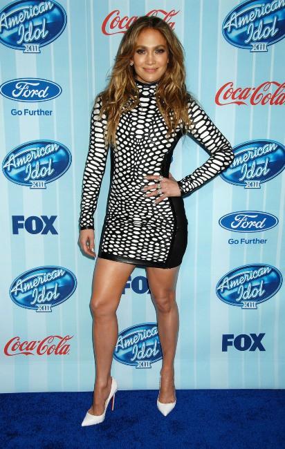 Jennifer Lopez lors du lancement de la saison 13 d'American Idol à Westwood, le 14 janvier 2014.
