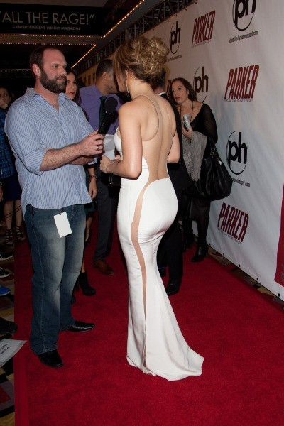 Jennifer Lopez lors de la première du film Parker à Las Vegas, le 24 janvier 2013.