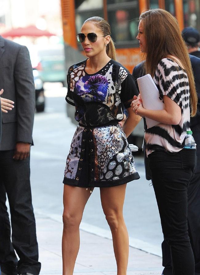 Jennifer Lopez à Hollywood pour les auditions d'American Idol le 27 octobre 2014