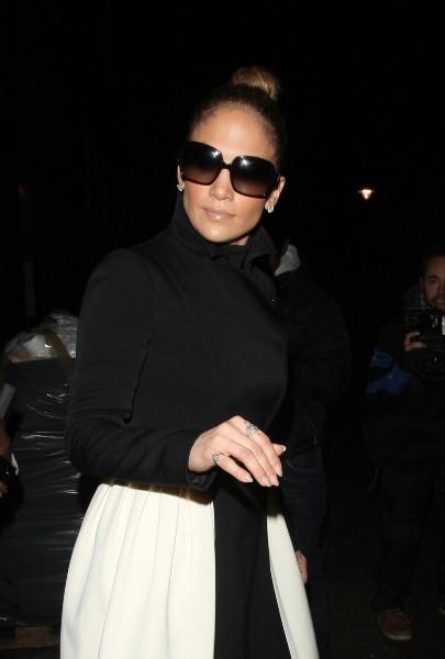 Jennifer Lopez à Londres, le 23 octobre 2012.