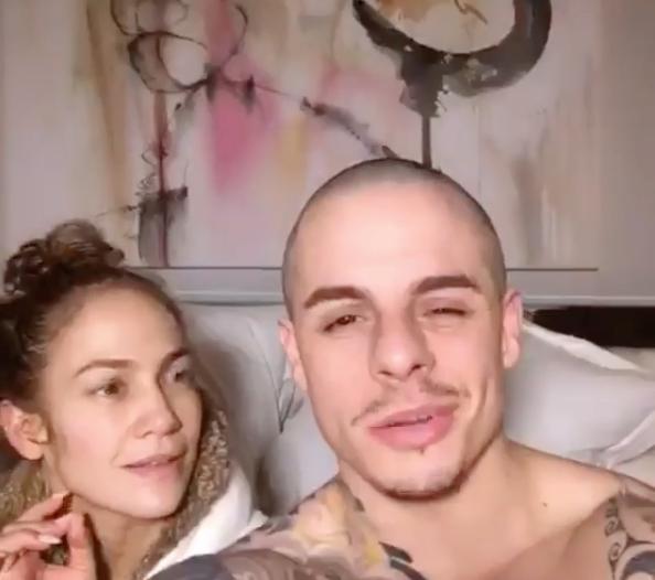 Jennifer Lopez et son compagnon Casper Smart
