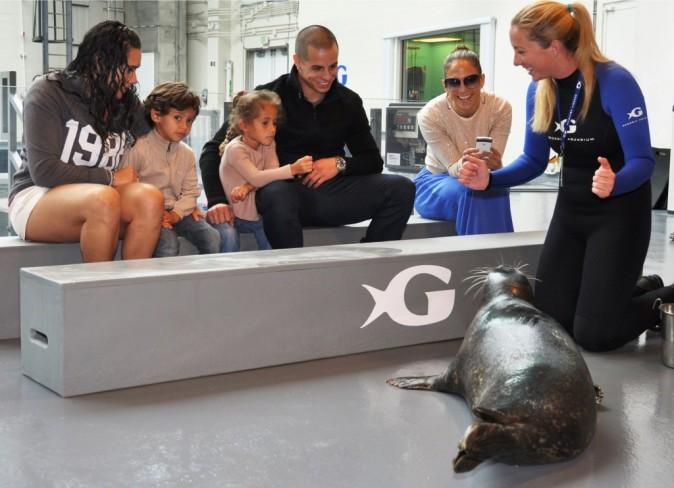 Jennifer Lopez en famille à l'Aquarium de Géorgie à Atlanta, le 28 août 2012.