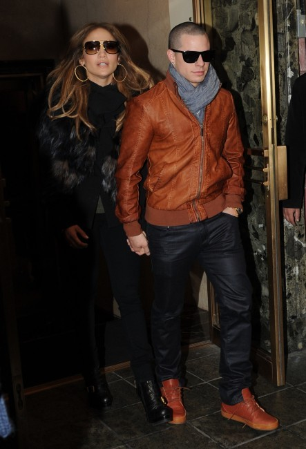Jennifer Lopez et Casper Smart à New York, le 31 janvier 2012.