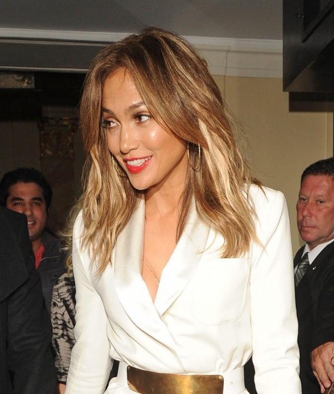 Jennifer Lopez à la sortie de leur hôtel à Londres, le 30 mai 2013.