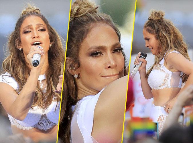 Jennifer Lopez : sublime à New York toute en transparence et vêtue de blanc