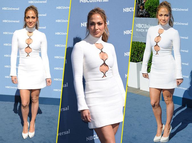 Jennifer Lopez sublime � New York toute de blanc v�tue