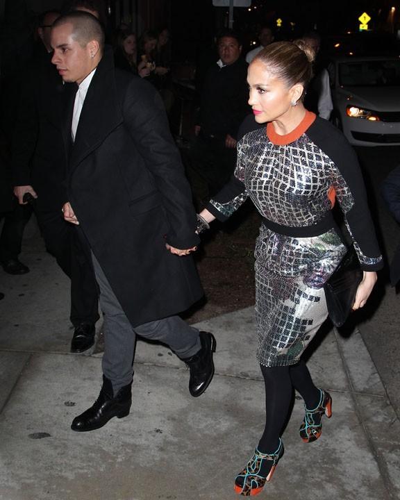 Jennifer Lopez à l'inauguration de la boutique Topshop de Los Angeles le 13 février 2013