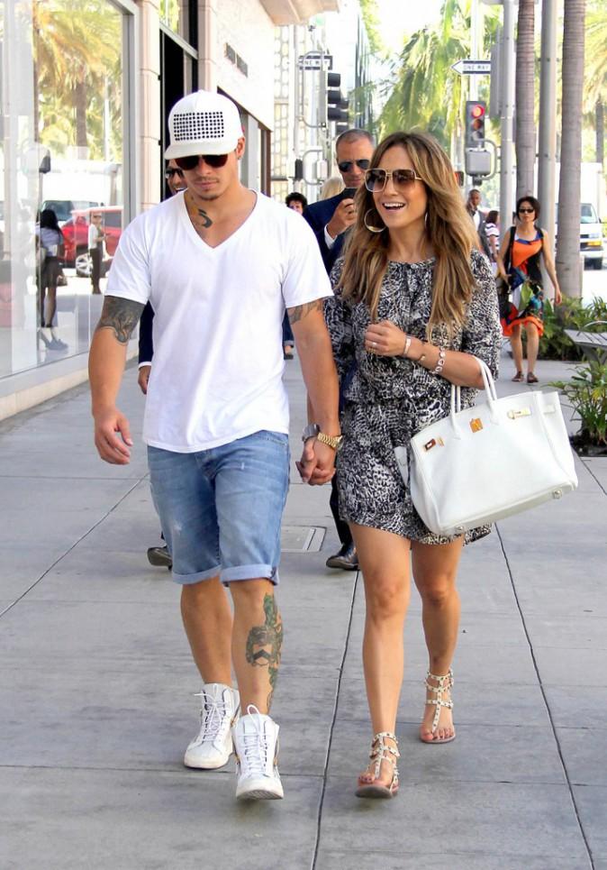 Jennifer Lopez et Casper Smart à Beverly Hills, le 17 septembre 2013.
