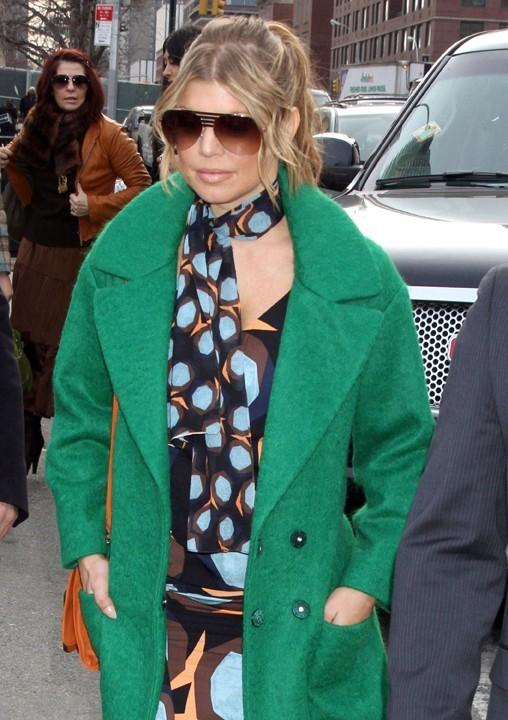 Fergie arrivant au défilé Diane Von Furstenberg, le 13 février à New York