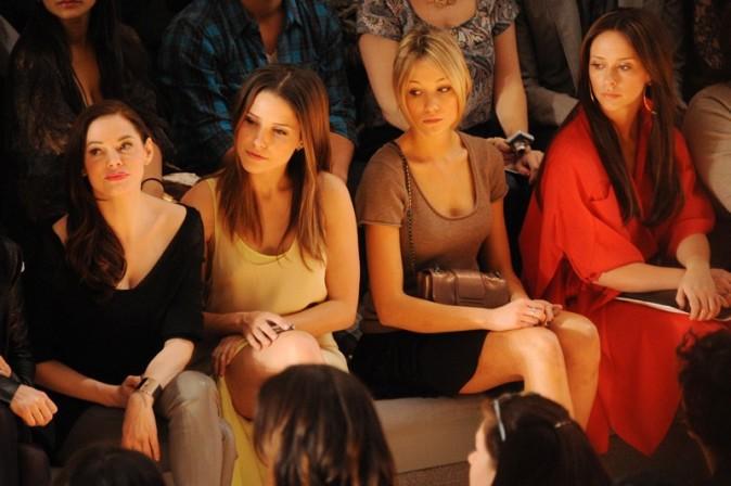 Rose McGowan, Sophia Bush, Katrina Bowden et Jennifer Love Hewitt au défié Max Azria, le 13 février à New York