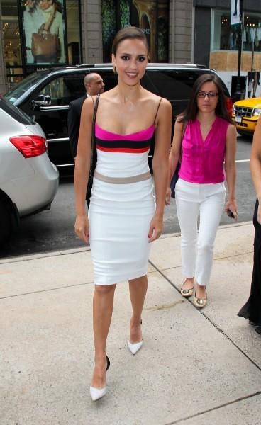 Jessica Alba à New York, le 26 juillet 2012.