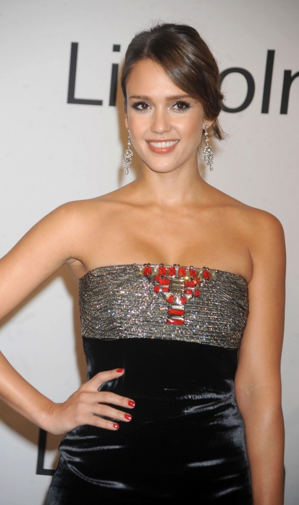"""Jessica Alba lors de la soirée """"An Evening with Ralph Lauren"""" à New York, le 24 octobre 2011."""