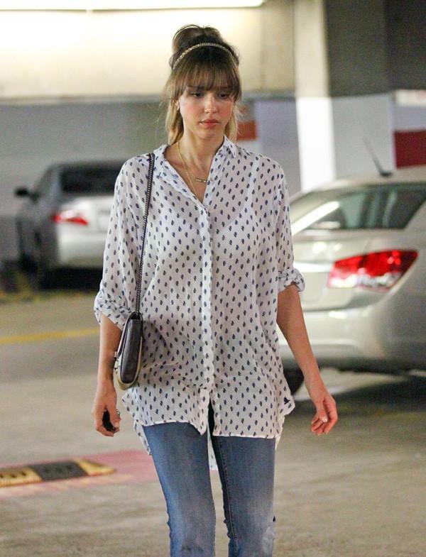 Jessica Alba allant chez son médecin à West Hollywood le 28 juin 2013