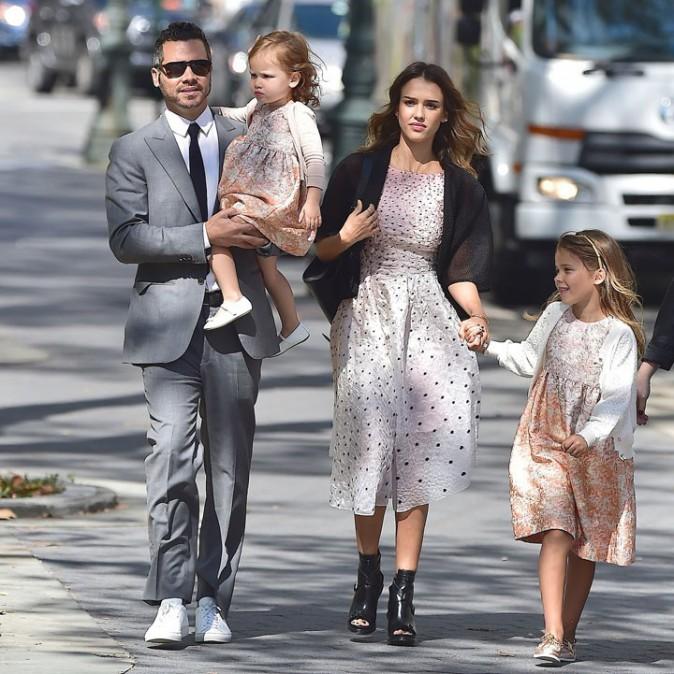 Jessica Alba de mariage à New-York le 15 septembre 2014