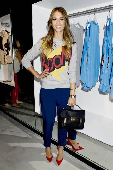 Jessica Alba lors d'un événement mode à New York, le 5 septembre 2013.