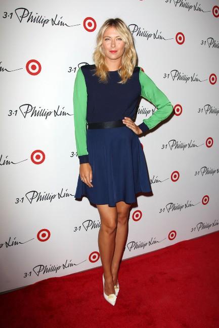 Maria Sharapova lors d'un événement mode à New York, le 5 septembre 2013.