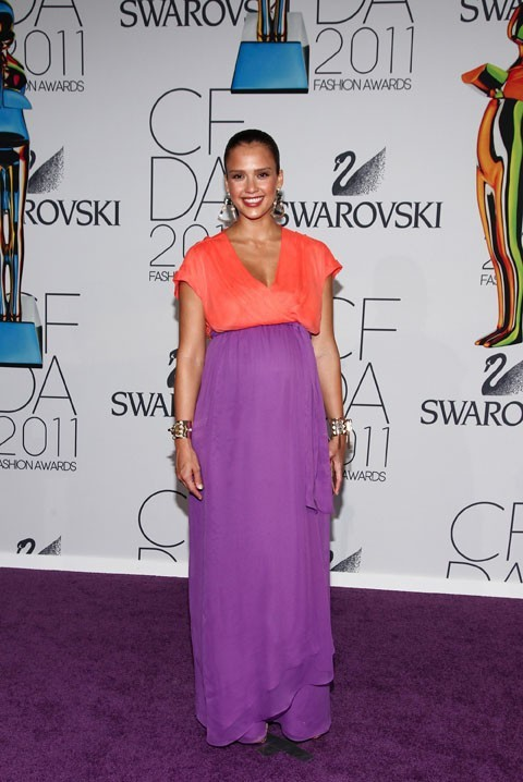 Jessica Alba lors des CFDA Fashion Awards à New York, le 6 juin 2011.
