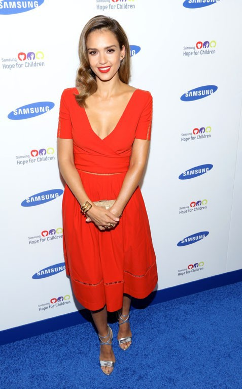 Jessica Alba au au Samsung Hope For Children Gala organisé à New-York le 10 juin 2014