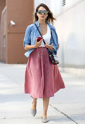 Jessica Alba à New York le 12 septembre 2014