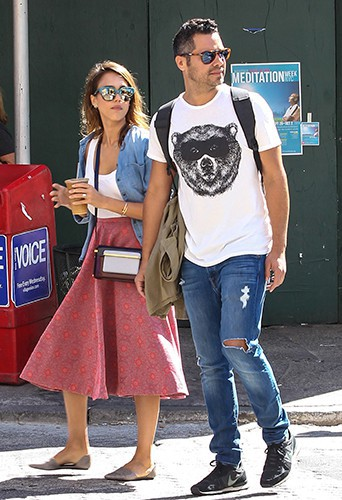 Jessica Alba et Cash Warren à New York le 12 septembre 2014