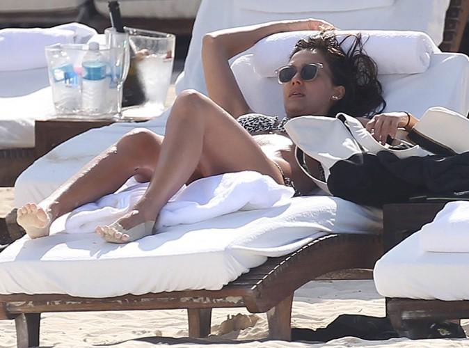 Jessica Alba à Cancún le 11 juillet 2014