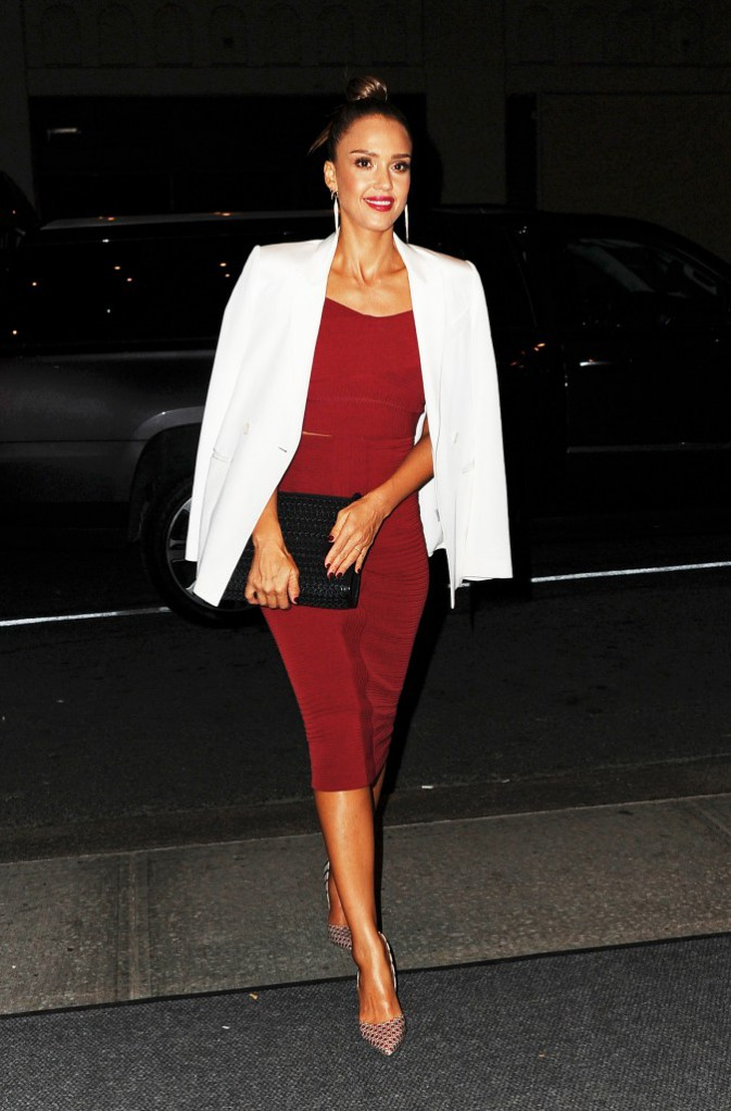 Jessica Alba à New York le 15 août 2015