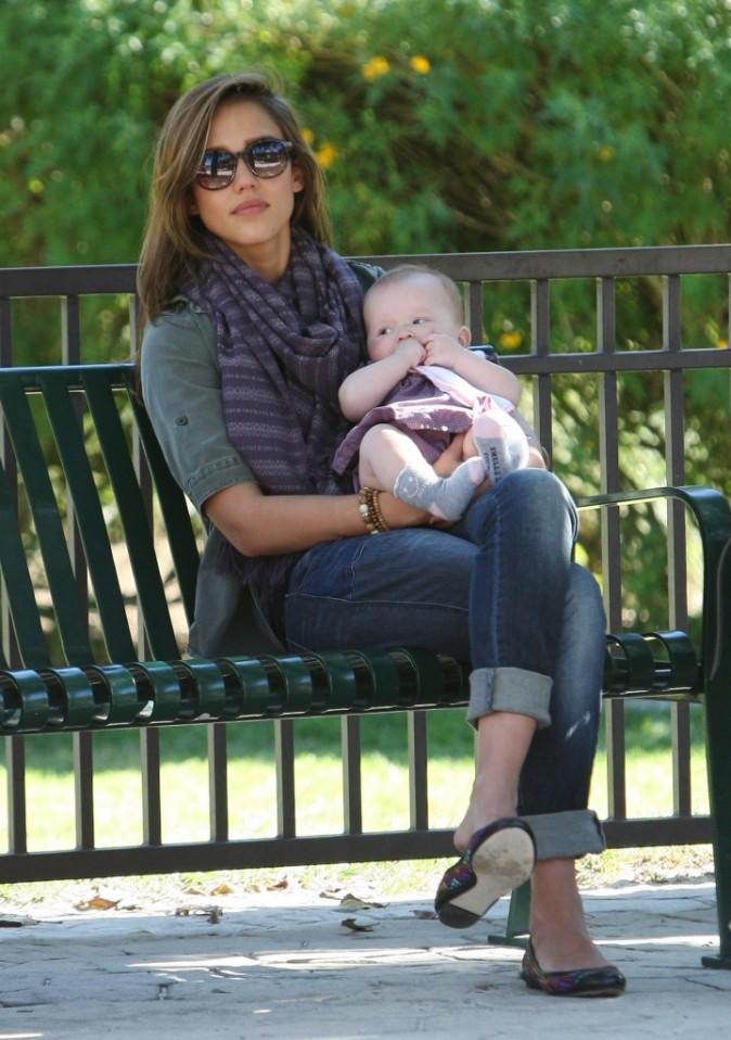 Bébé adore le parc !