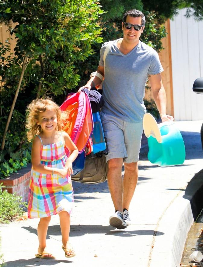 Cash Warren et sa fille Honor à Hollywood, le 5 août 2012.