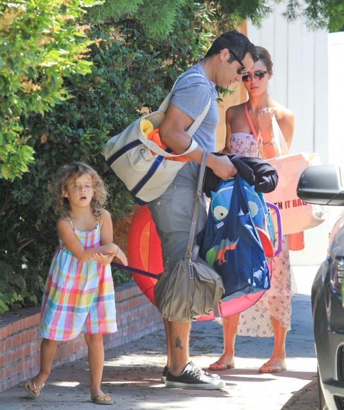 Jessica Alba et en famille à Hollywood, le 5 août 2012.