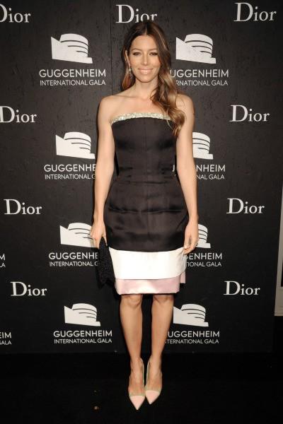 "Jessica Biel lors du ""Guggenheim International Gala 2013"" à New York, le 7 novembre 2013."