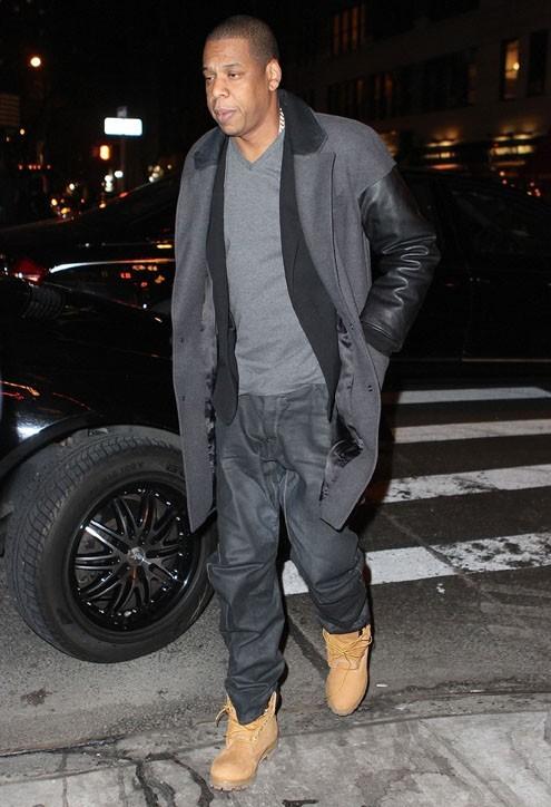 Jay Z à New-York le 14 mars 2013 pour passer la soirée avec Justin Timberlake et Jessica Biel