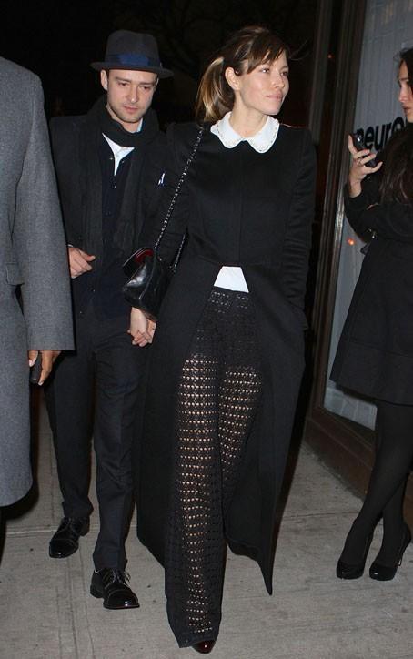 Jessica Biel et Justin Timberlake de sortie avec Jay Z à New-York le 14 mars 2013