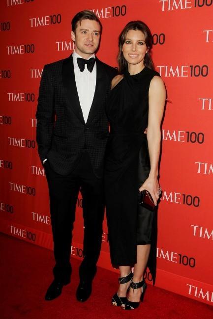 """Justin Timberlake et Jessica Biel lors de la soirée """"2013 Time 100 Gala"""" à New York, le 23 avril 2013."""