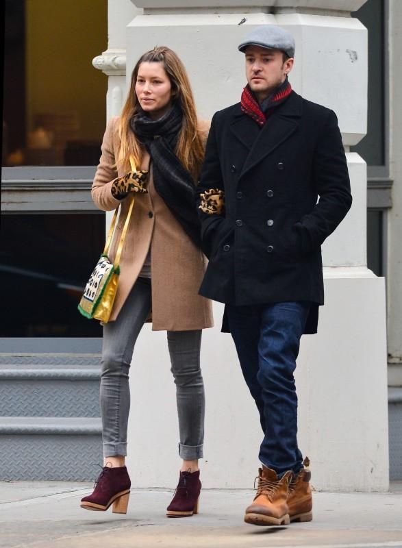 Jessica Biel et Justin Timberlake, New-York, 1er mars 2013.