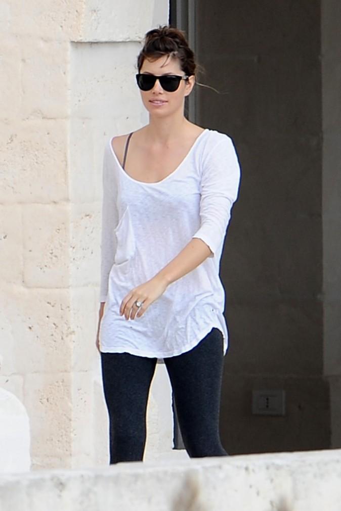 Jessica Biel en Italie, le 21 octobre 2012.