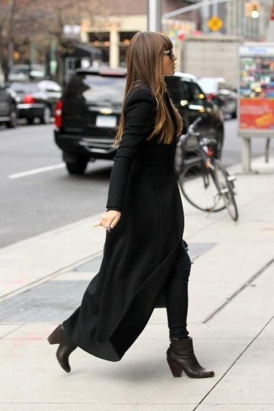 Jessica Biel se rendant au restaurant Aurora à New York, le 19 novembre 2012.