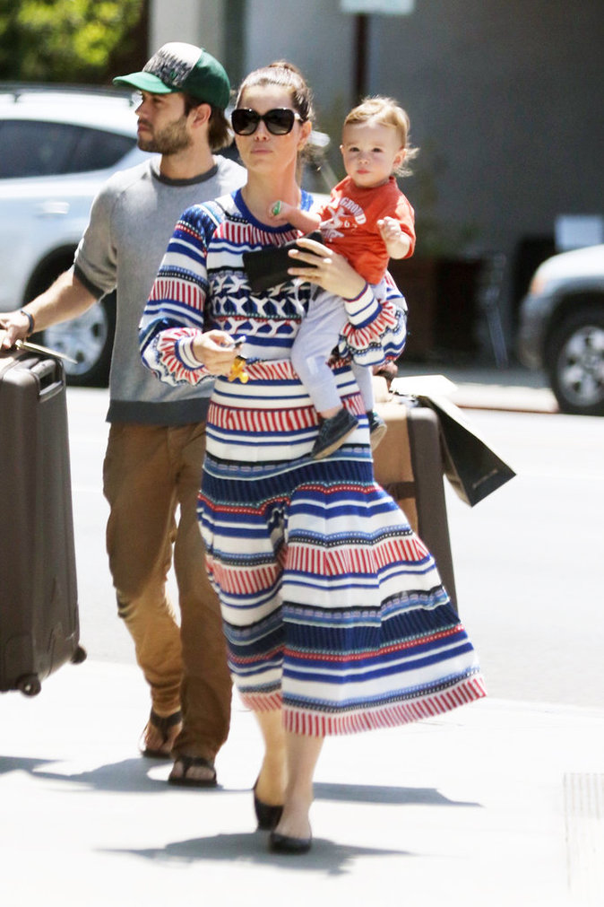 Photos : Jessica Biel : Silas, futur beau gosse Jessica Biel Baby