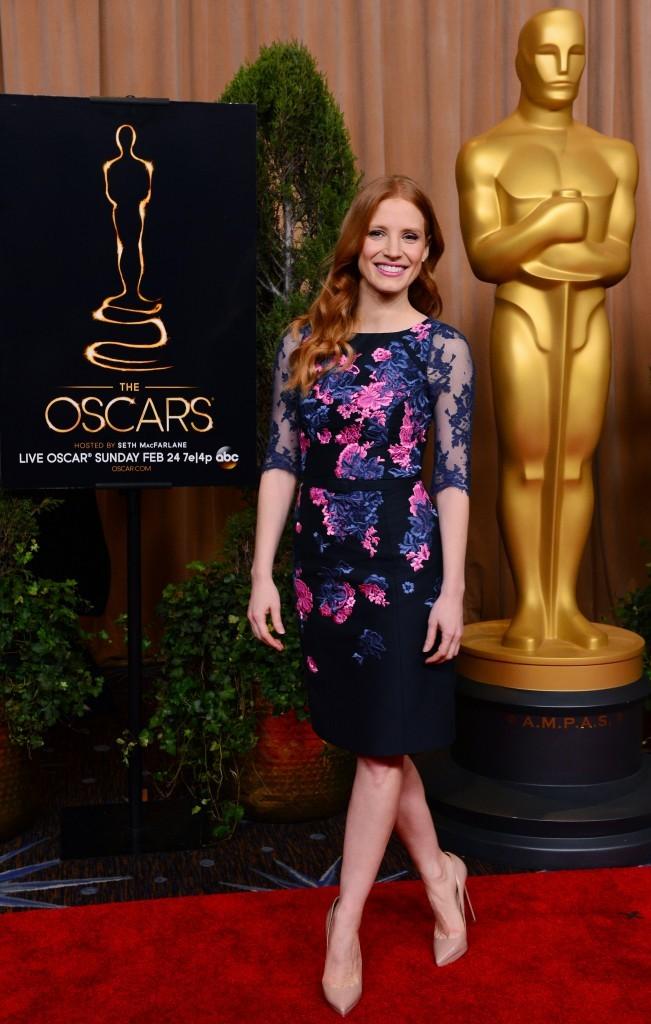 Jessica Chastain lors du déjeuner des nommés à la 85e cérémonie des Oscars, le 4 février à Beverly Hills.