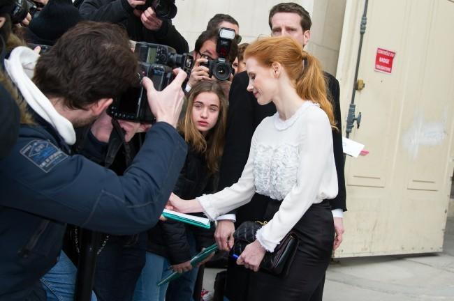L'actrice a été accueillie par de nombreux fans