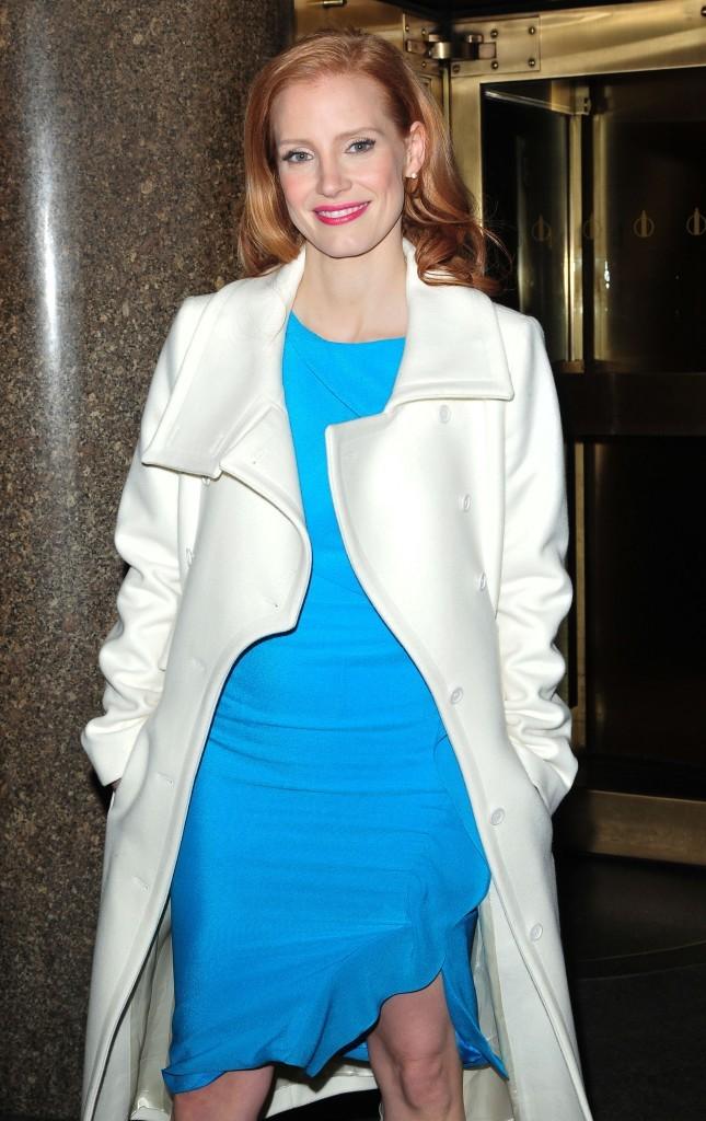 Jessica Chastain, New York, 18 janvier 2013.