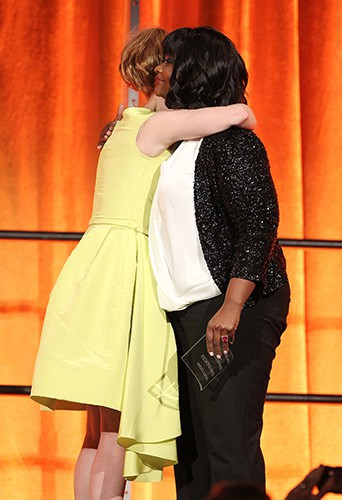 Octavia Spencer et Jessica Chastain à New-York le 7 janvier 2014