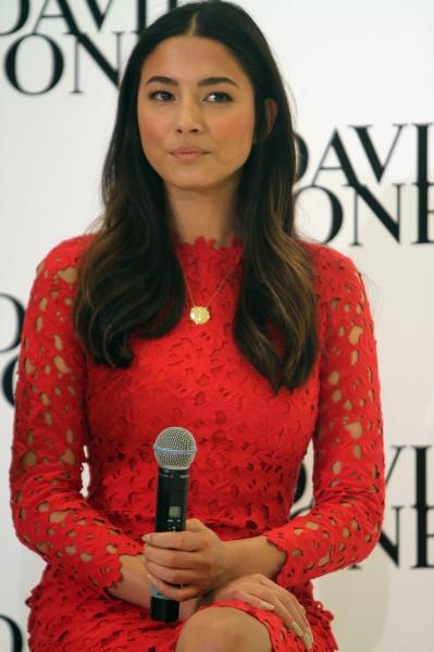Jessica Gomes lors d'un événement promo pour la marque David Jones à Perth, le 8 août 2013.