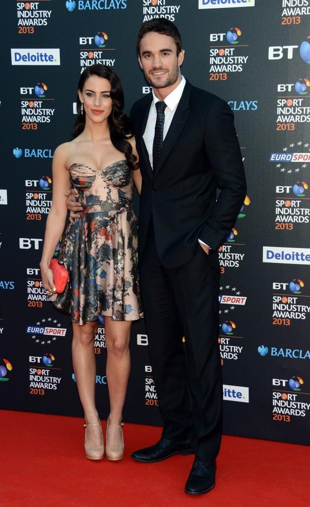 Jessica Lowndes et Thom Evans lors de la soirée BT Sport Industry Awards à Londres, le 2 mai 2013.