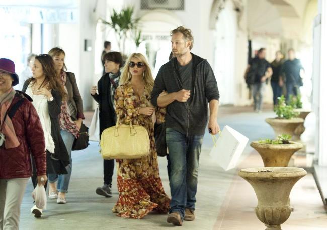 Jessica Simpson et Eric Johnson à Capri, le 16 octobre 2013.