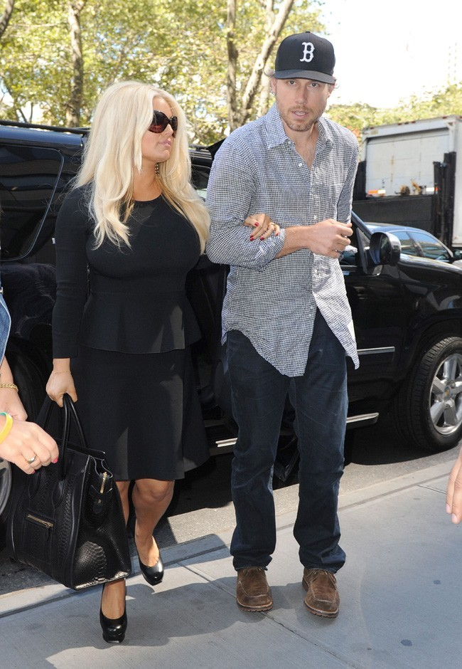 Jessica Simpson à New-York le 10 septembre 2012
