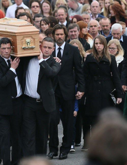 Photos : Jim Carey dévasté pour ses adieux à sa compagne, Cathriona White
