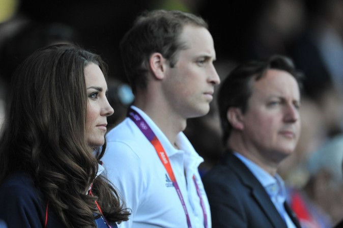 Kate Middleton et le Prince William, Stade Olympique, Londres, 4 aout 2012.