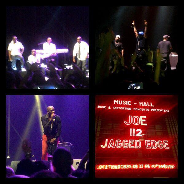 112, Jagged Edge et Joe en concert à L'Olympia, le 9 octobre 2013.