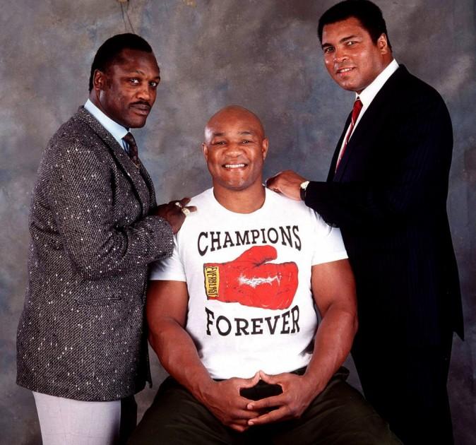 Joe Frazier, George Foreman et Mohamed Ali !