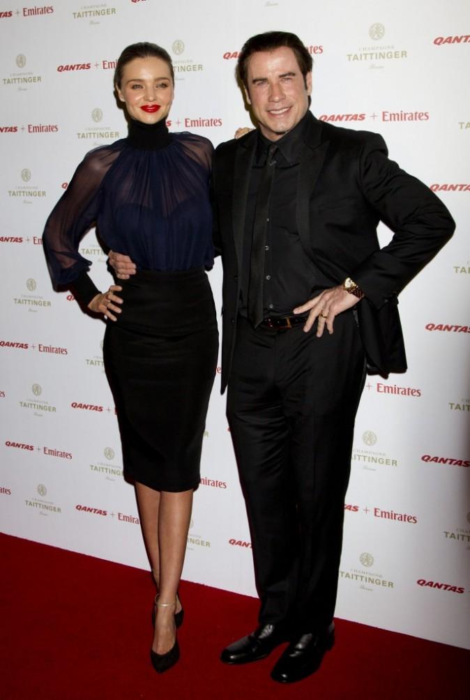 Miranda Kerr et John Travolta à la soirée Qantas
